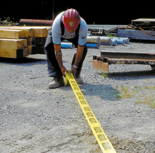 Worker marking boundary